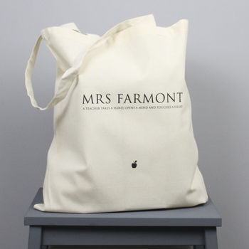 Personalised Classic Teacher's Tote Bag