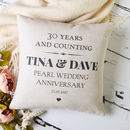 Pearl Wedding Anniversary Cushion Cover