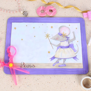 Purple Ballerina Placemat - children's cooking