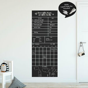 Family Monthly Wall Planner Sticker