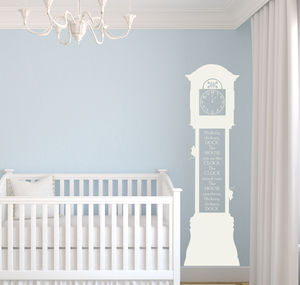'Hickory Dickory Dock' Clock Wall Sticker
