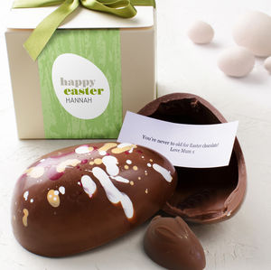 Personalised Easter Egg With Surprise Message Enclosed - easter eggs