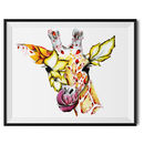 Lily The Floral Giraffe Fine Art Print