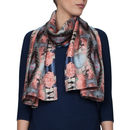 Silk Scarf In Blue And Pink Thai Rope Print