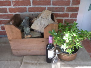 Personalised Vintage Style Small Log Crate