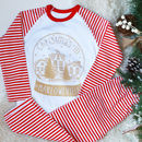 Personalised Snow Globe Kids Christmas Pyjamas