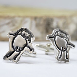 Personalised Artwork Cufflinks Drawn By Your Child - cufflinks