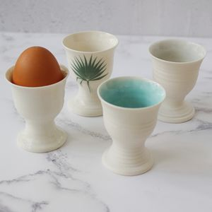 Hand Thrown Porcelain Egg Cup - dining room