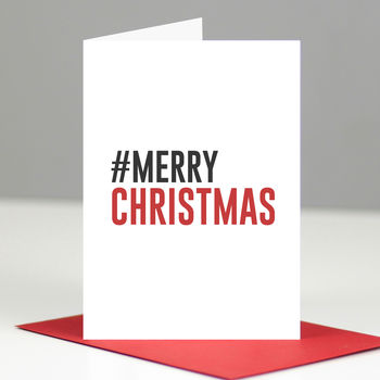 Hashtag Merry Christmas Pack Of Geeky Christmas Cards
