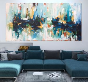 Large Landscape Abstract Canvas Painting - new in