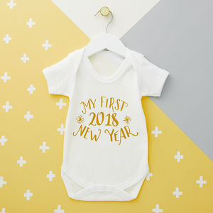 New Year's Eve Babygrow - clothing