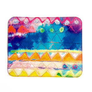 'Aquarelle Rainbow' Printed Leather Mouse Mat - summer sale