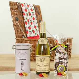Macon Villages And Sweet Treat Hamper - wine hampers