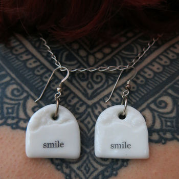 'Smile' Porcelain Charm Earrings