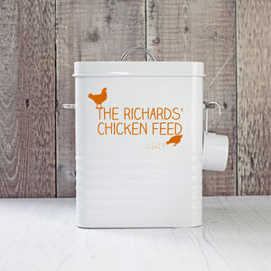 Personalised Chicken Food Storage Tin