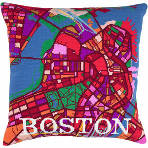 Contemporary Boston City Map Tapestry Kit