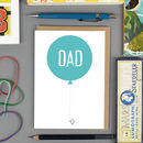 'Dad' Balloons Father's Day Card