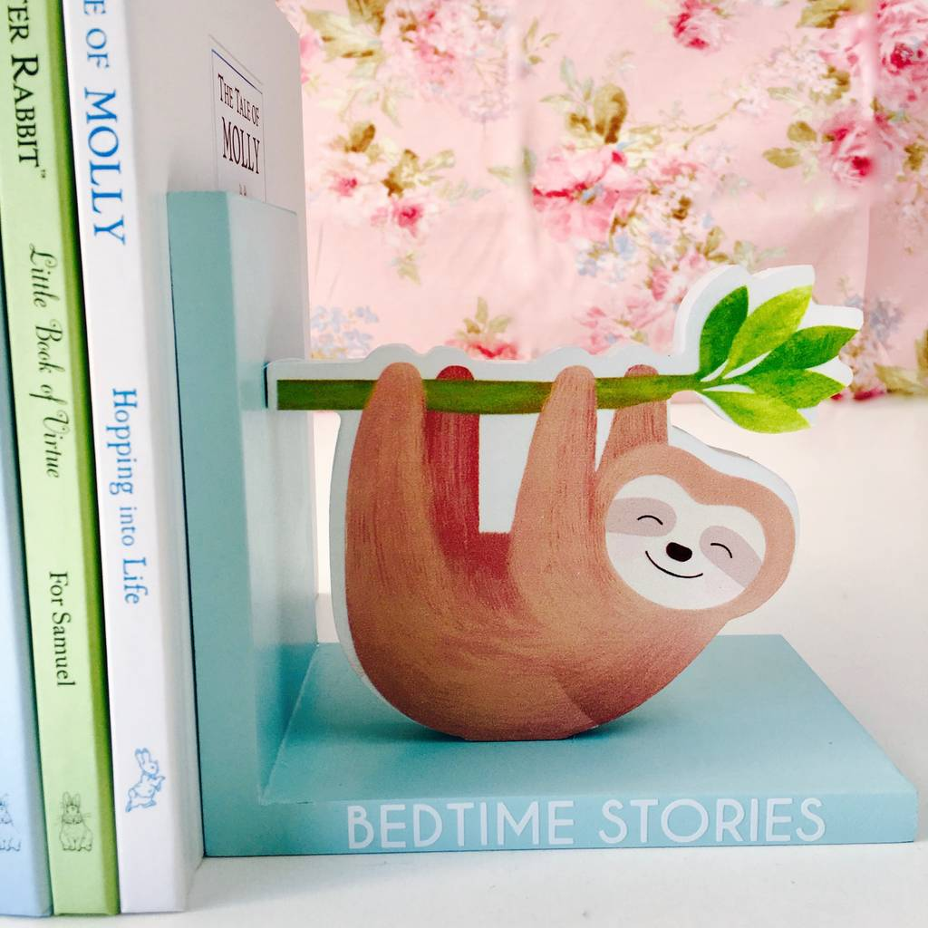 a44f2a8c5 personalised sloth bookends by thelittleboysroom ...