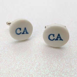 Custom Blue Cuff Links