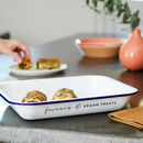 Personalised Vegan Treats Enamel Baking Tray