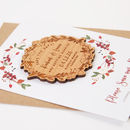 Winter Floral Save The Date Wooden Magnet