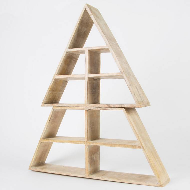 Wooden Display Shelf Christmas Tree