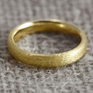 4mm Court Profile 18ct Gold 'Lochy' Wedding Ring - rings