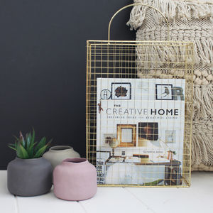 Gold Wire Magazine Holder - magazine racks