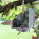 Personalised Mirror Remembrance Robin Keepsake