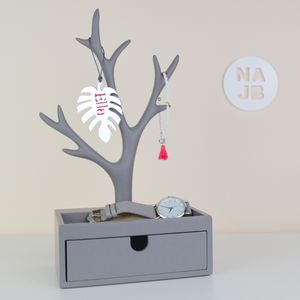 Grey Jewellery Tree And Box
