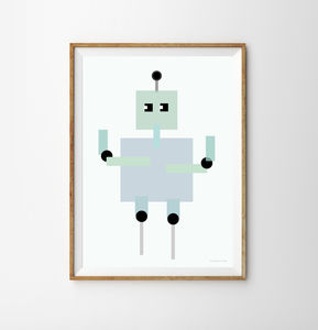 Robot Children's Print - new in prints & art