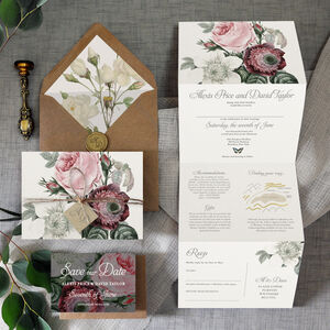 Bloom Concertina Wedding Invitation