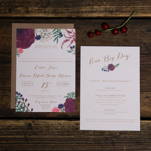 Autumnal Vibes Wedding Invitations - styling your day sale