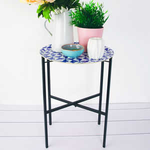 Geometric Pattern Tray Table - sale by category