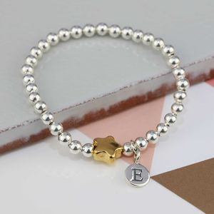 Personalised Tess Gold Star Bracelet - children's jewellery