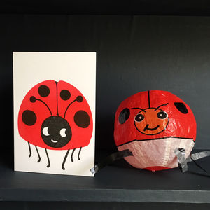 Ladybird Paper Balloon Card