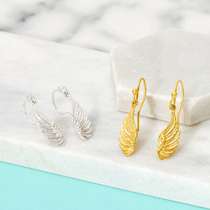 Angel Wing Charm Earrings