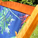 Personalised Tropical Beach Deckchair For Men