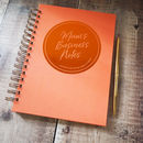 Personalised Message Notebook Circular Emblem