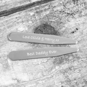 Personalised Note Collar Stiffeners - men's accessories