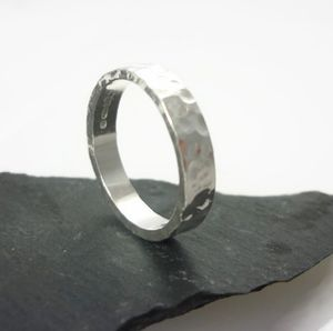Polished Sterling Silver Ring 4mm - rings