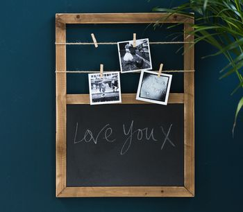 Chalk Board With Clips