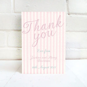 Pink And Mint Wedding Thank You Card