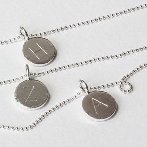 Sterling Silver Engraved Disc Layering Necklace
