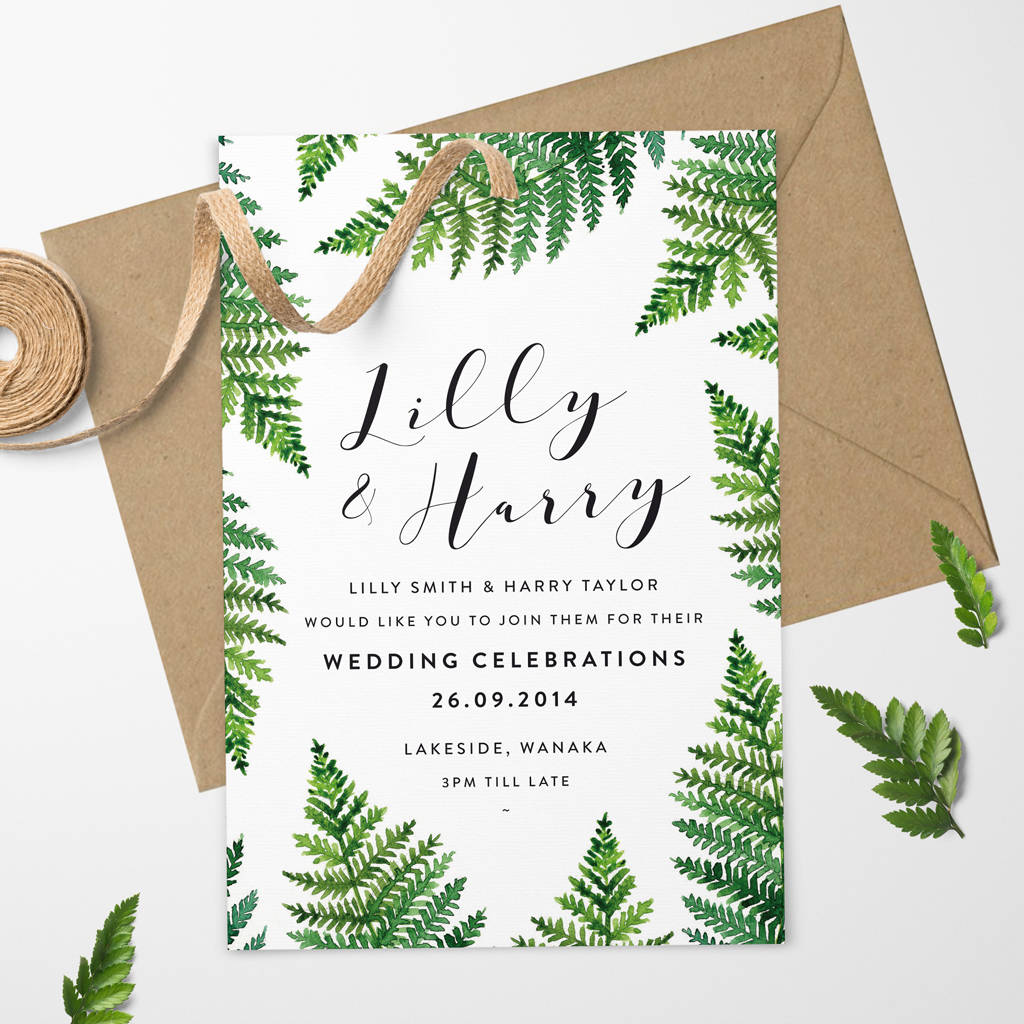 Wanaka Wedding Invitation