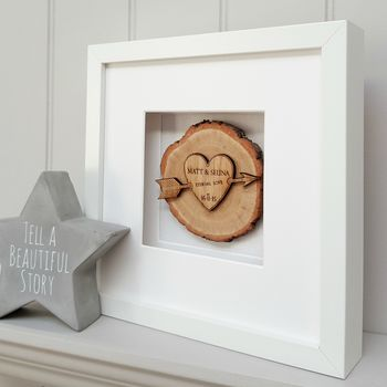 5th Wedding Anniversary Oak Slice Artwork