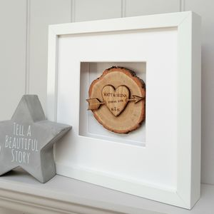 5th Wedding Anniversary Wooden Log Artwork - limited edition art
