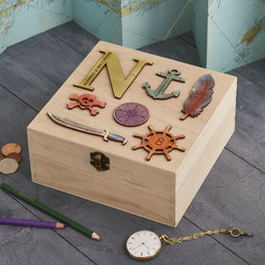 Personalised Birthday Pirate Treasure Storage Box - storage boxes & trunks