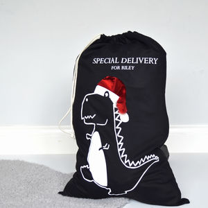 Personalised Dinosaur Christmas Sack - stockings & sacks