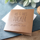 Engraved Leather Anniversary Card
